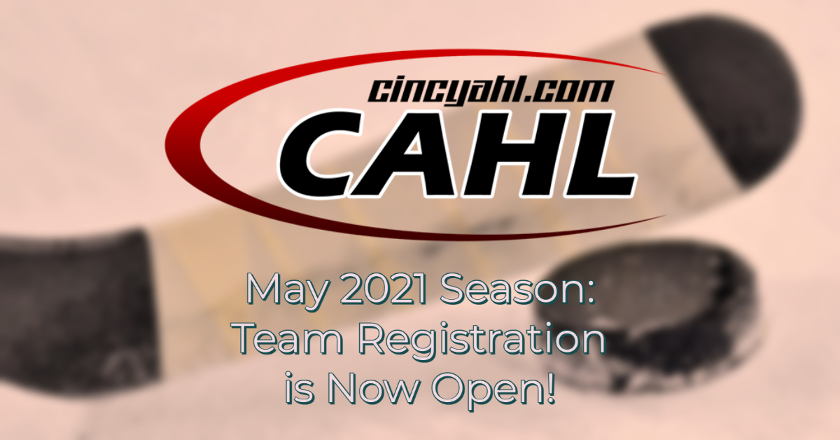 Team Registration: May 2021