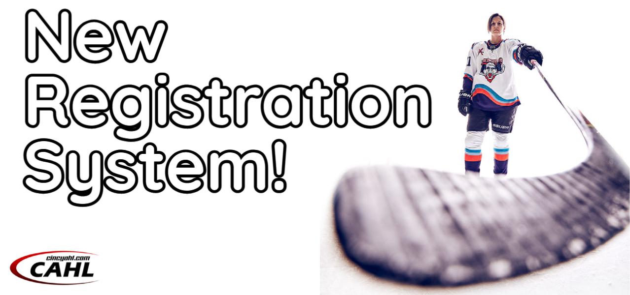 New CAHL Registration System